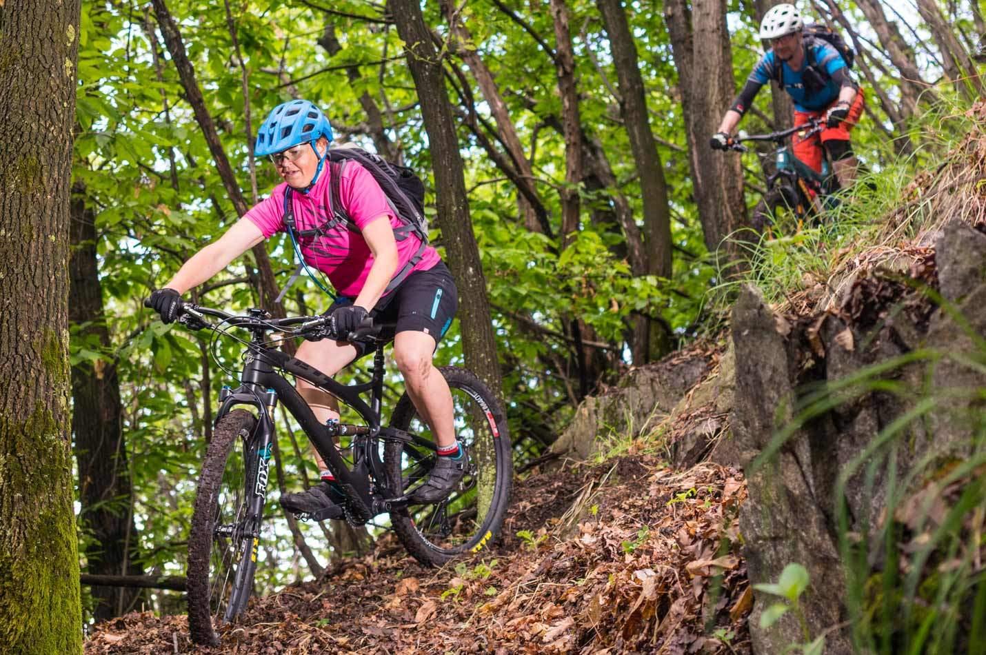 Auffahrt Bike Wochenende mit kniffligem Trail im Tessin