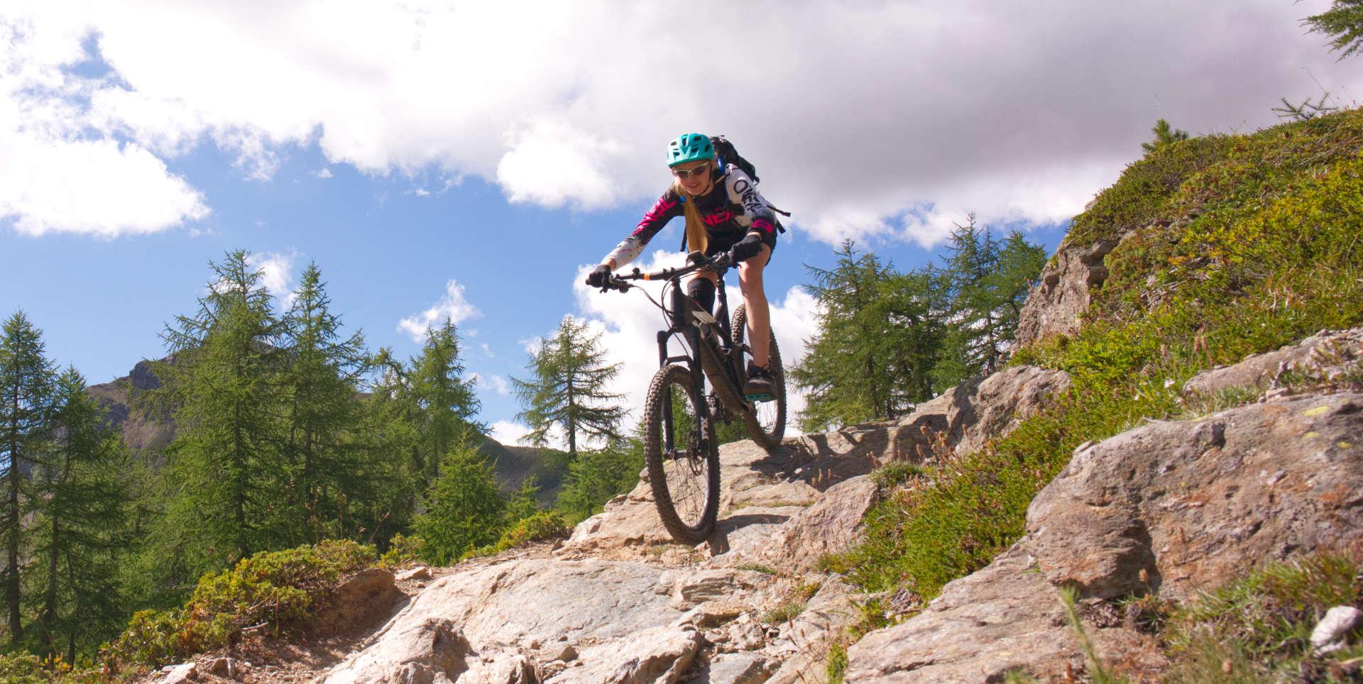 Biker in Celerina