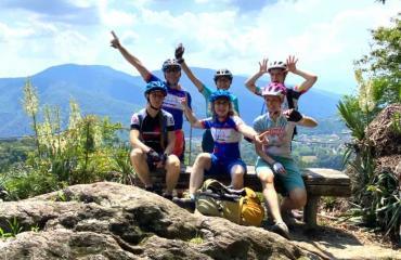 Bikerinnen Gruppe