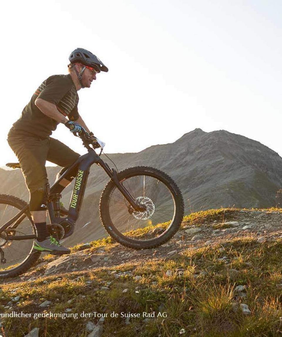 E-Biker auf TDS E-MTB