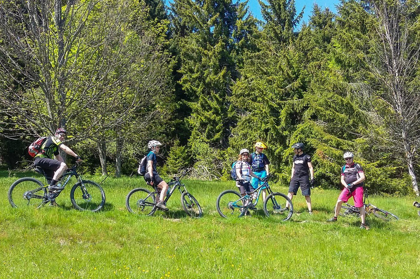 Pfingst Wochenende mit Biker Gruppe auf einer Waldlichtung